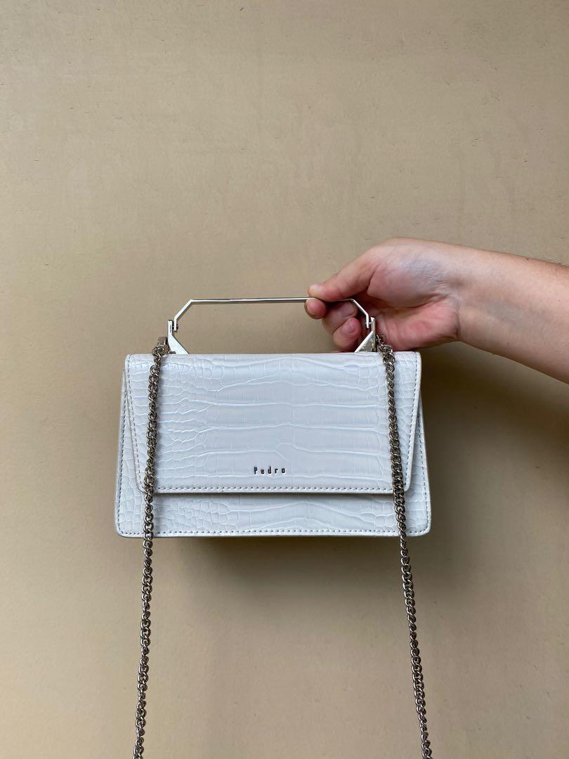 Pedro sling bag white croco