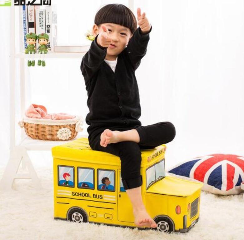 Storage Box / Cartoon Storage BUS Kotak peyimpanan mainan toys - Biru Muda