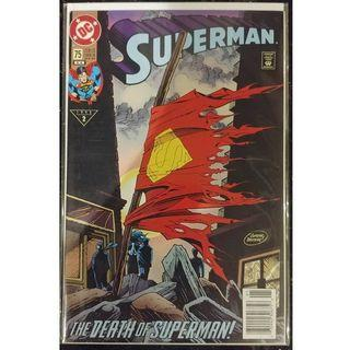 Superman (1987 2nd Series) # 75 REP 3RD NEWSTAND edition