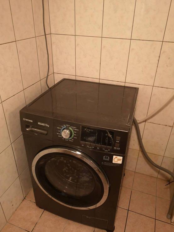 TATUNG變頻溫水洗脫烘滾筒洗衣機