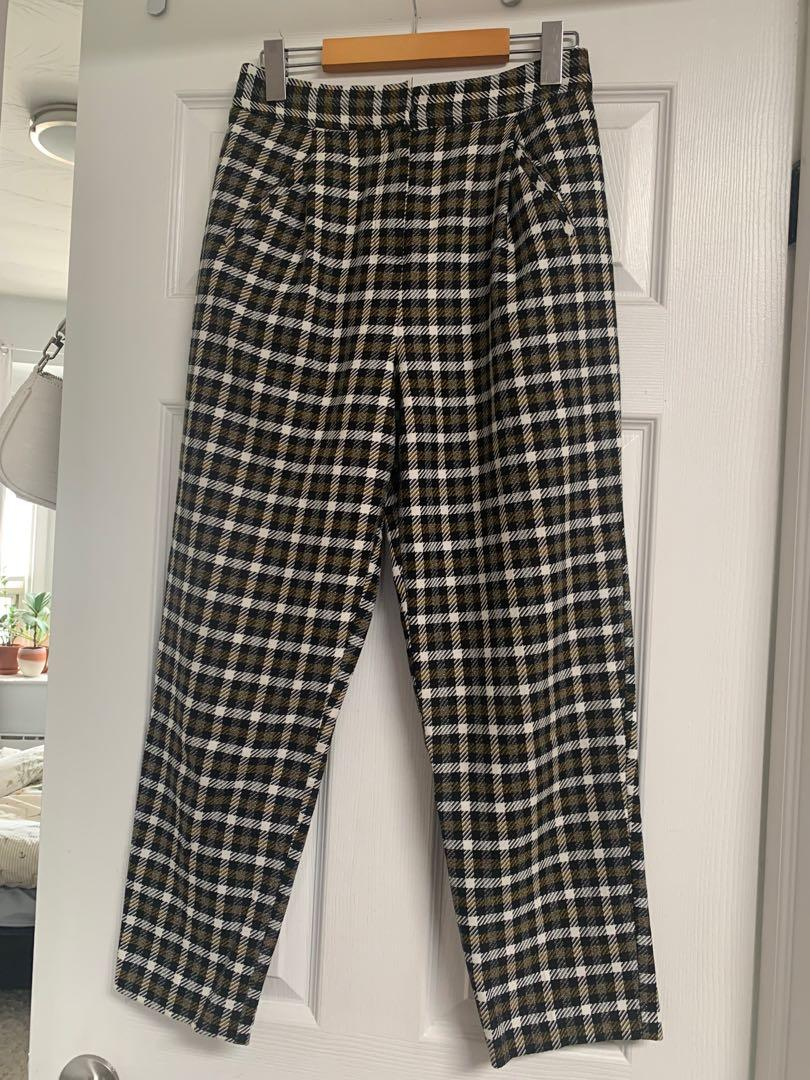 Topshop Tapered Plaid Pants - US sz 4