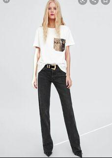 Zara Pocket Tshirt White