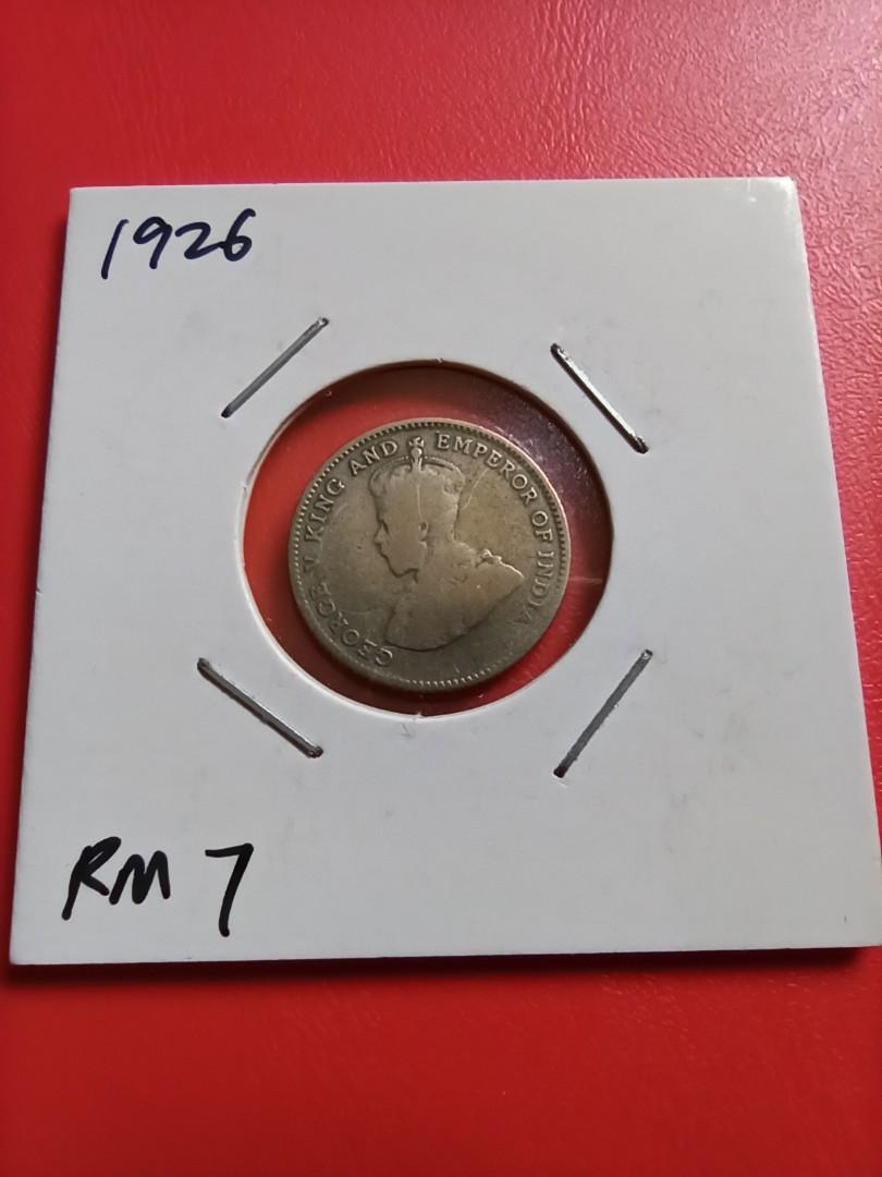 1926 Straits Settlements Ten Cents Silver Coin Before Malaya n Malaysia Wang Perak Syiling Duit Lama 10 Sen