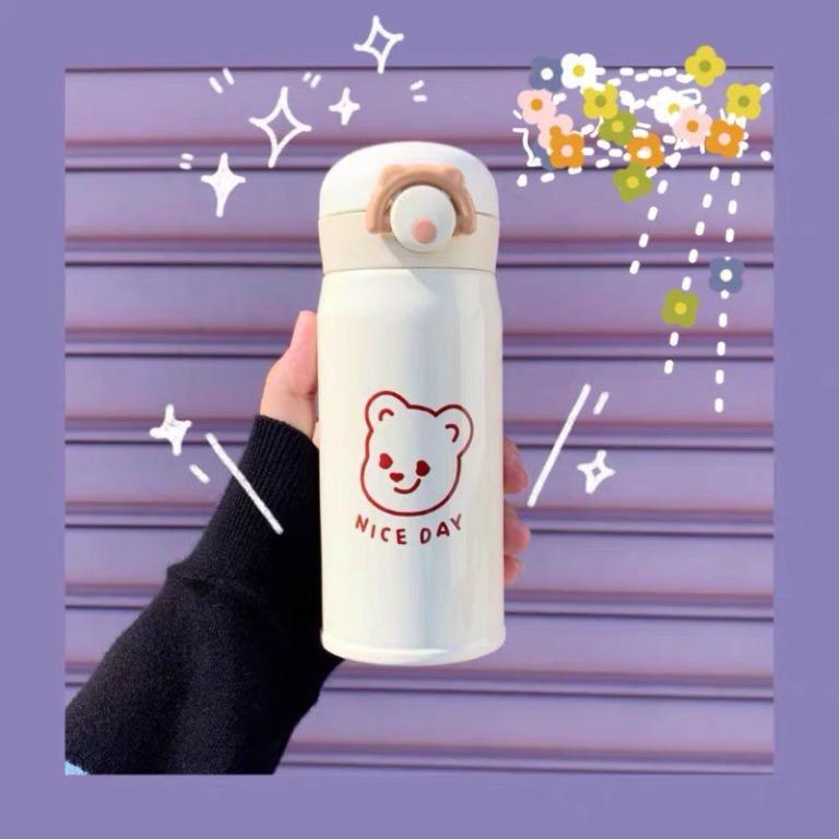 🍥送同款杯套🍥小熊保溫杯🔥現貨秒發🔥 304不鏽鋼 保溫瓶 保冰保溫