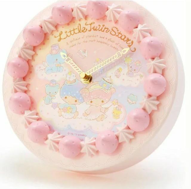 三麗鷗雙子星草莓蛋糕造型時鐘 掛鐘 擺飾 擺件 居家生活 (現貨+預購下單請詢問 限時優惠)