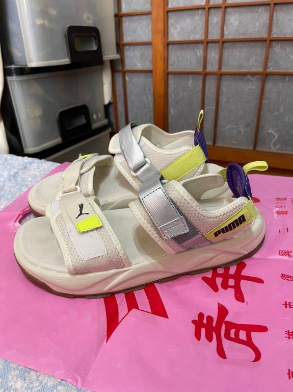 「 二手鞋 」 Puma 男版涼鞋 US8.5(米白)鐵4-3