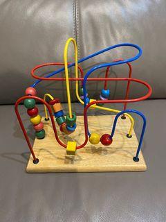 益智歡樂軌道迷宮 looping wooden toy