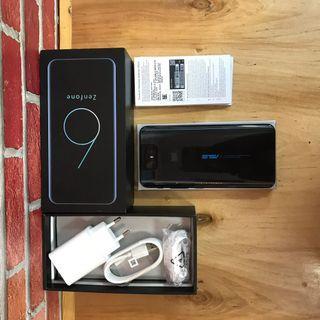 Asus Zenfone 6 6/128GB Snapdragon 855 Black Fullset Original Resmi