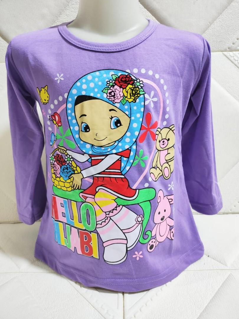 Baju anak lucu / baju helo hijabi/ baju lengan panjang