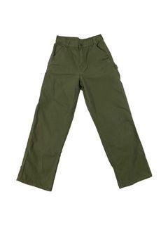 CARHARTT OLIVE GREEN HIGH WAISTED WIDE LEG CARGO PANTS