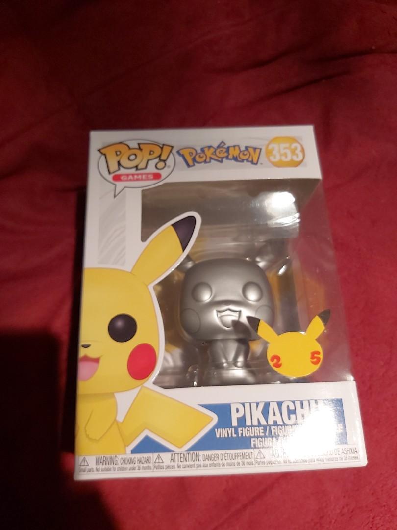 FunkoPop Pokemon Pikachu Metallic Silver
