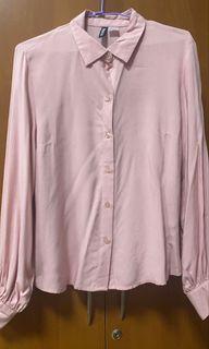 H&M粉色襯衫