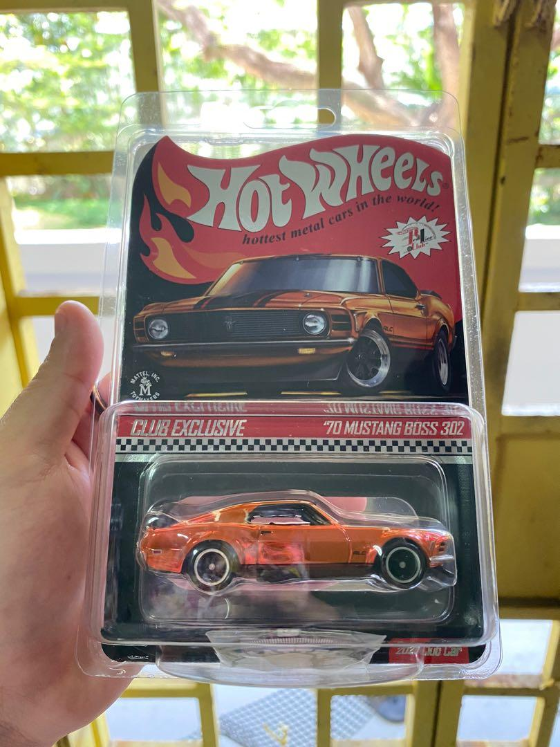 Hot Wheels RLC 2021 '70 Mustang Boss 302 Club Exclusive Red Line Club Hotwheels