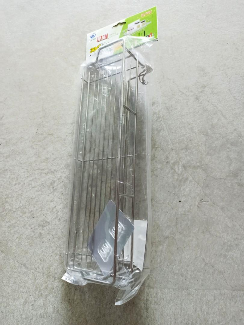 IB102 免釘 #304不鏽鋼梯形置物架 40.5*12.5*10.5cm