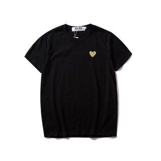 [INSTOCK] Comme Des Garçons Play Gold Logo Crew Neck Shirt