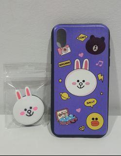 IPhone case with pop socket / Pop socket