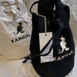 正版KANGOL 水桶包/白色/黑色☺︎