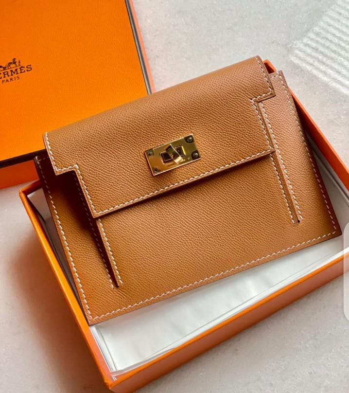 Kelly Pocket Compact Wallet Gold Ghw Y