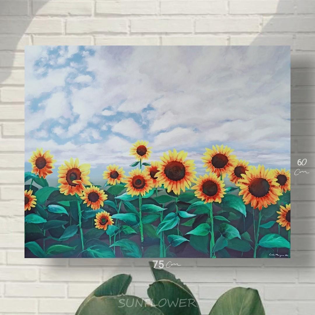 lukisan bunga matahari