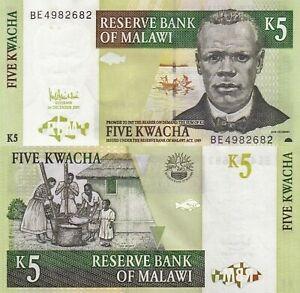 MALAWI 5 KWACHA 2005 UNC