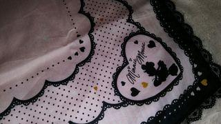 Minnie Mouse Pink Lace Authentic Japan Handkerchief