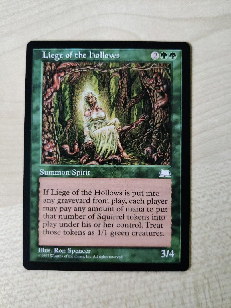 MTG Liege of the Hollows Weatherlight LP+ RL
