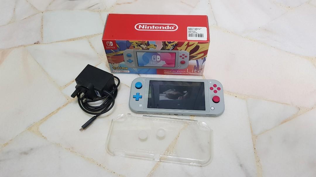 Nintendo Switch Lite Pokemon Zacian and Zamazenta Edition