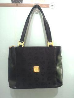 ORIGINAL MCM canvass medium tote shoulder bag