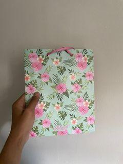paper bag harvest motif bunga/floral