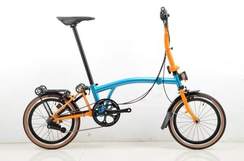 Pikes Blue/Orange 6spd M-bar with high profile wheelset, Innova Tan Wall Tyres & Brooks lookalike B17 saddle