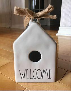 Rae Dunn Home traditional birdhouse (New)