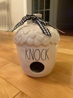 Rae Dunn Knock acorn birdhouse (New)