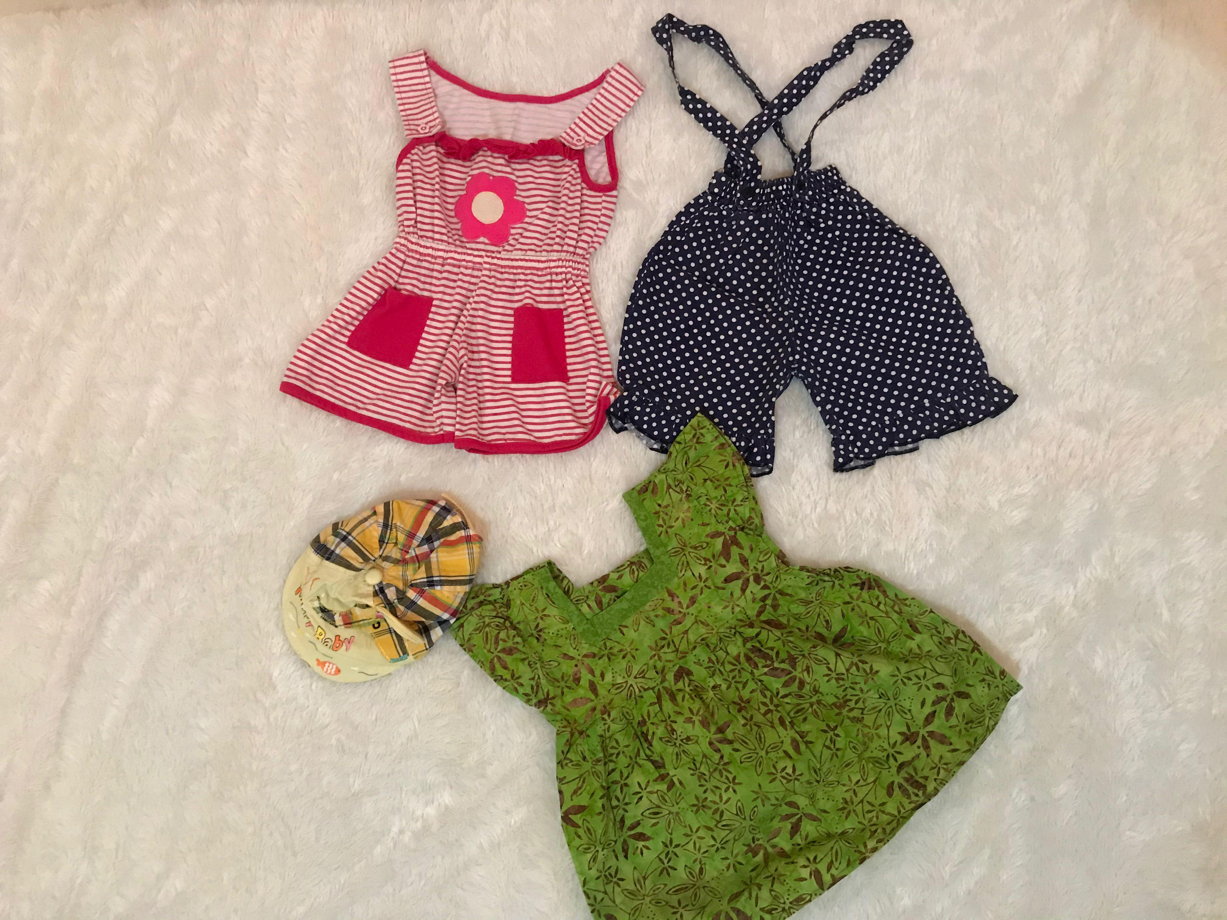 Take All 4item (dress,overall 2,topi)