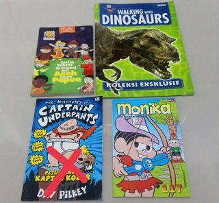 Take all Buku cerita anak cerita rakyat captain underpants monika walking with dinosaurs BBC