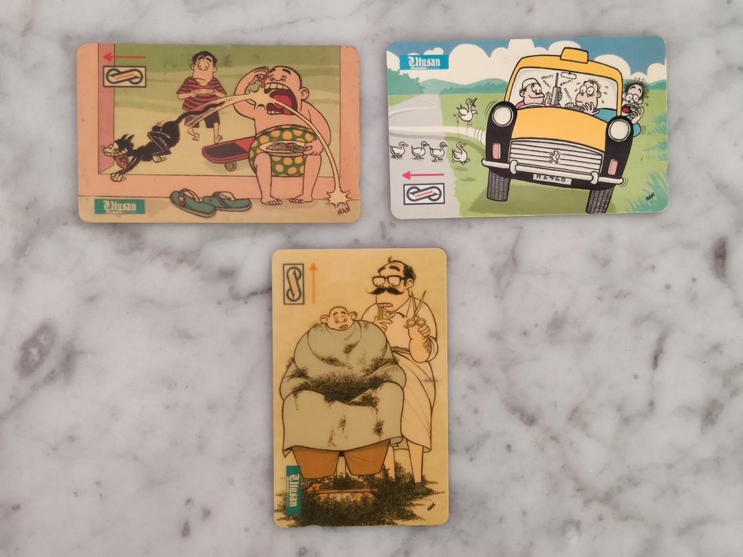 "Used Collectable Uniphone Card ""LAT Cartoon/Utusan Malaysia"" Series"