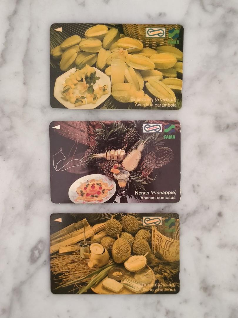 "Used Collectable Uniphone Cards - *Local Fruits 2"" Series"