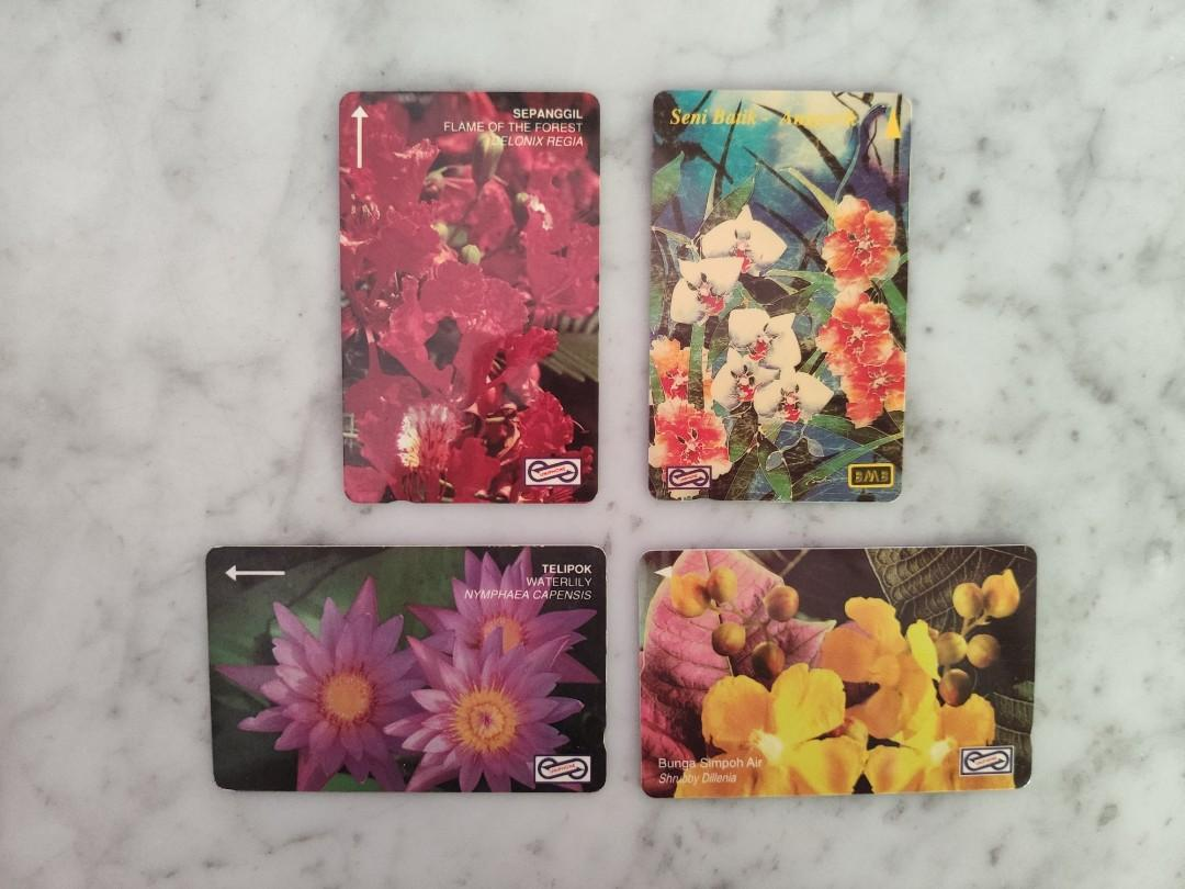"Used Collectable Uniphone Cards - ""Flora"" Series"