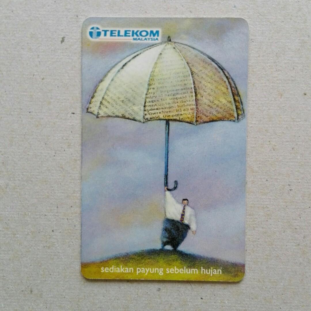 Used Telekom Phone Cards - Sedia Payung Sebelum Hujang