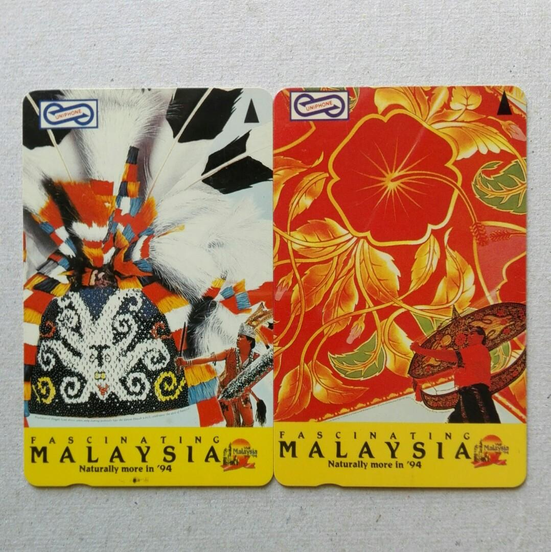 Used Uniphone Phone Cards - 2pcs Fascinating Malaysia