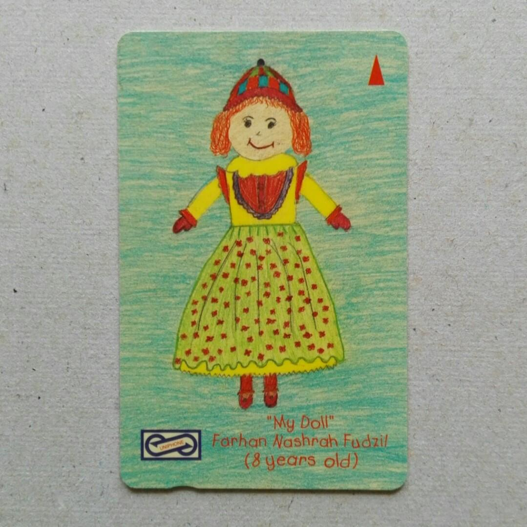 Used Uniphone Phone Cards - Children's Drawings, My Doll