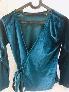Velvet blue top