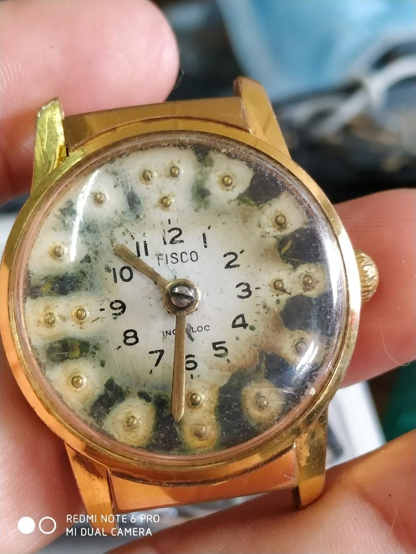 Vintage Fisco Braille watch for the blind