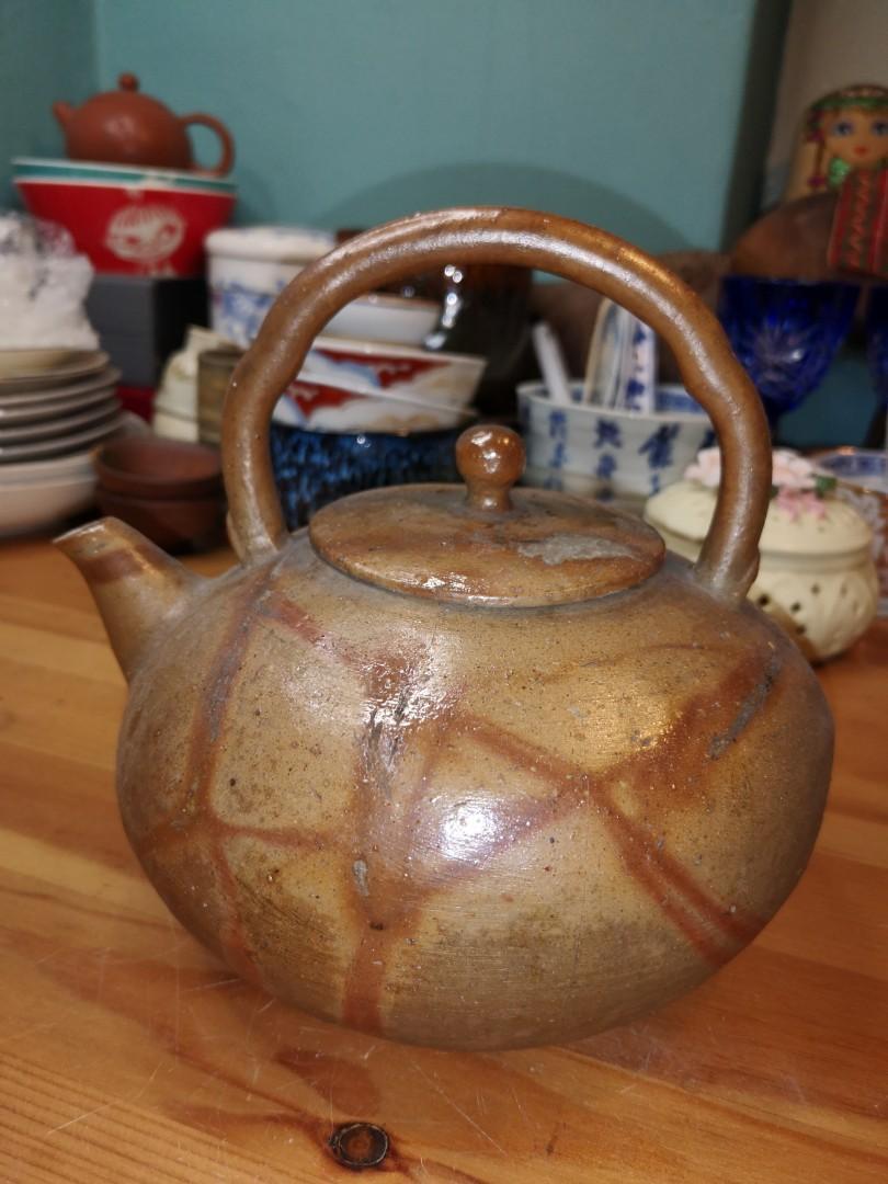 Vintage Japanese hand made tea pot kettle