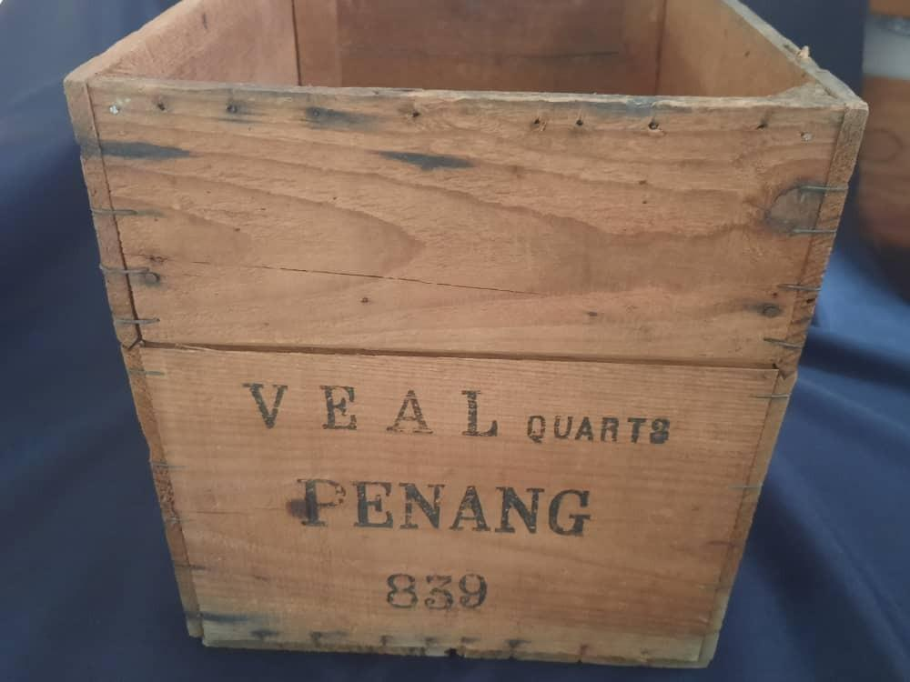 Wooden Crate Vintage  Packing Box, - Penang - Make a Great decorators piece for the home or Bar / Coffee shop.