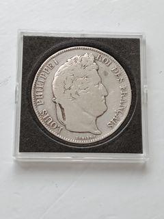 1840 5 Francs - Louis-Philippe I France 0.9 Silver Coin