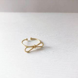 現貨!✨日韓唯美簡約啞光金屬蝴蝶結開口戒指💍實拍