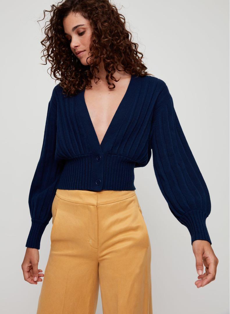 Aritzia Thais Sweater in Dark Blue
