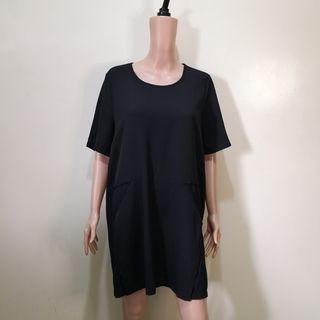 C1223 - CSC Black Semi-sheer Black Loose Dress