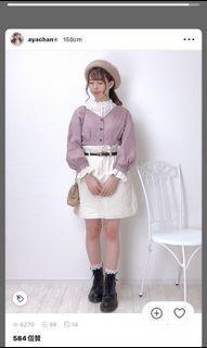 gu 粉紫色上衣