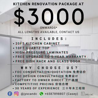 Kitchen Cabinet Renovation Carpentry Direct Factory Contractor to Owner